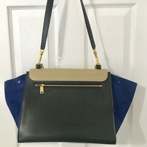 Celine Bags   Cline Tricolor Medium Trapeze Bag   Poshmark ae0337e511
